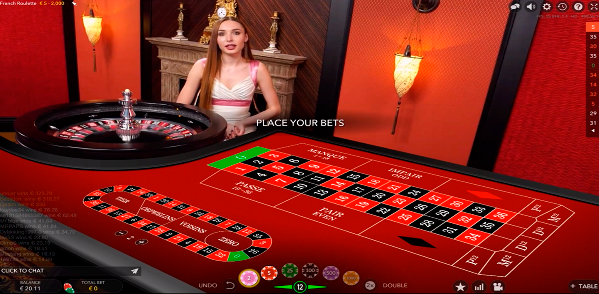 french roulette evolution gaming