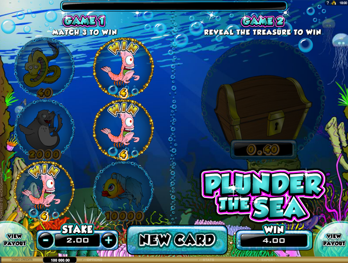 plunder the sea microgaming