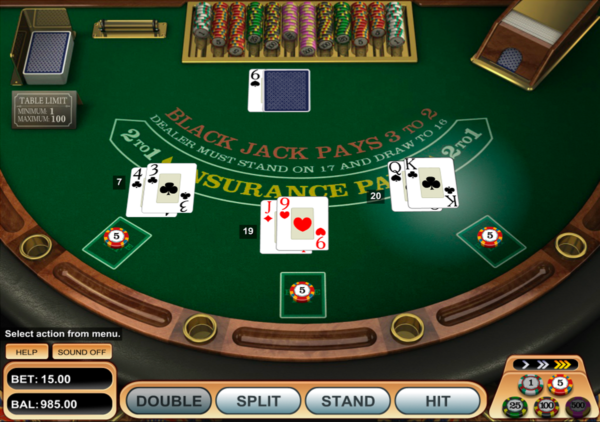 single desk blackjack betsoft